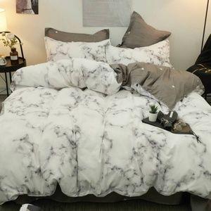 Marble Print Bedding Set